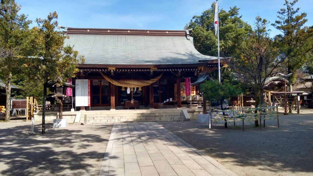 菊池神社登ったところの写真