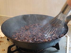 フライパン混合焙煎12分煙