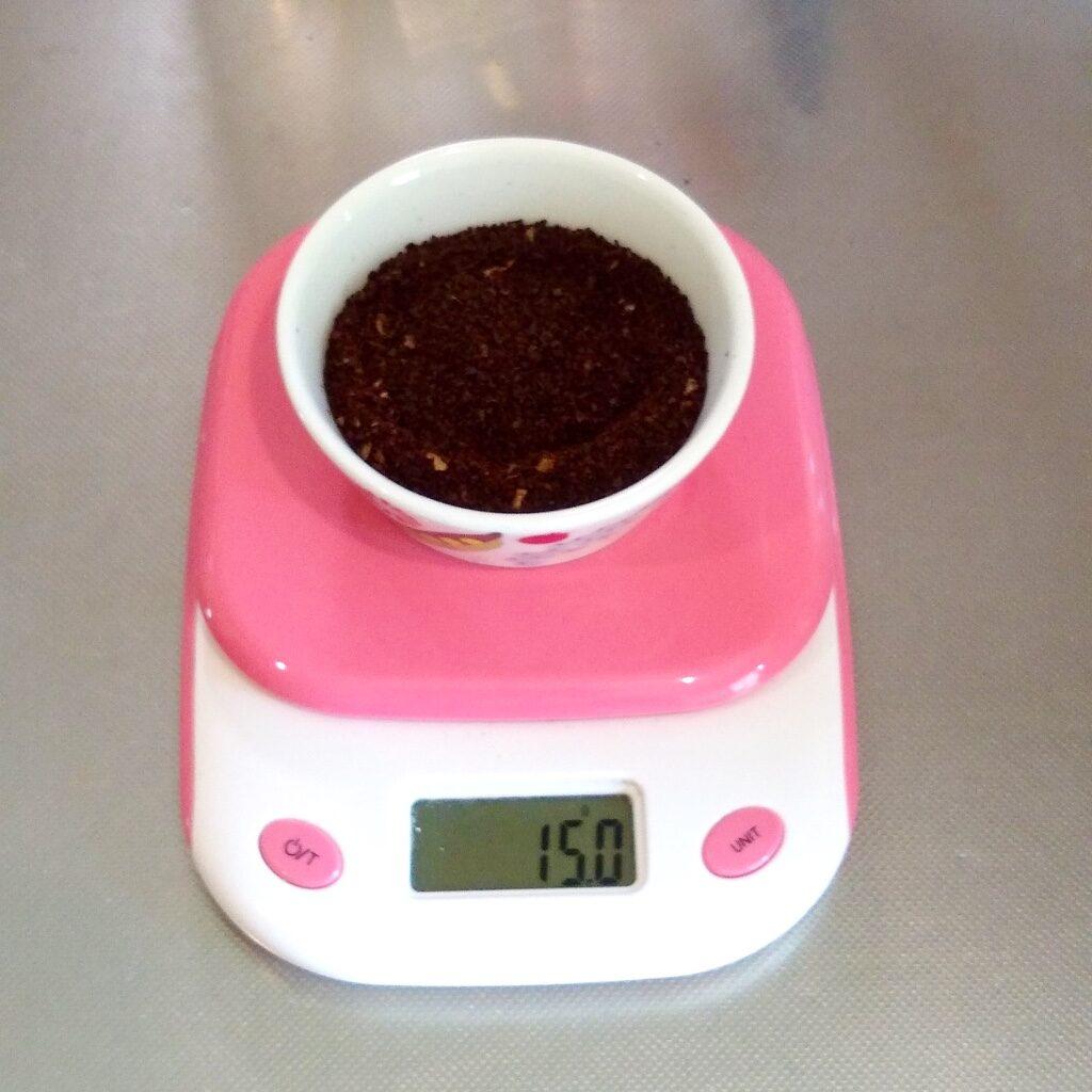 15gのコーヒーの粉