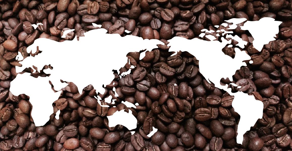 世界地図_コーヒー豆