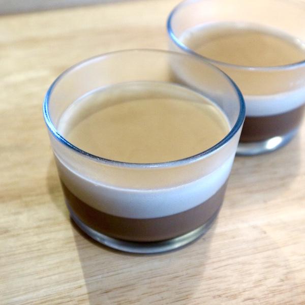 二層のコーヒーゼリー